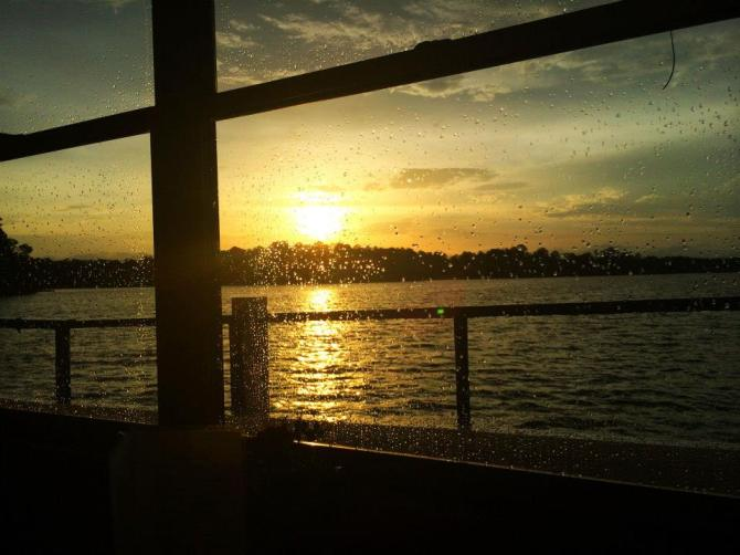Sunset seen from cruise